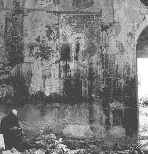 განადგურებული ფრესკები ბედიის კათედრალში