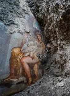 პომპეიში უნიკალური ფრესკა აღმოაჩინეს