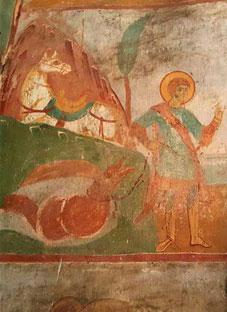 წმინდა გიორგის ორიგინალური ფრესკა
