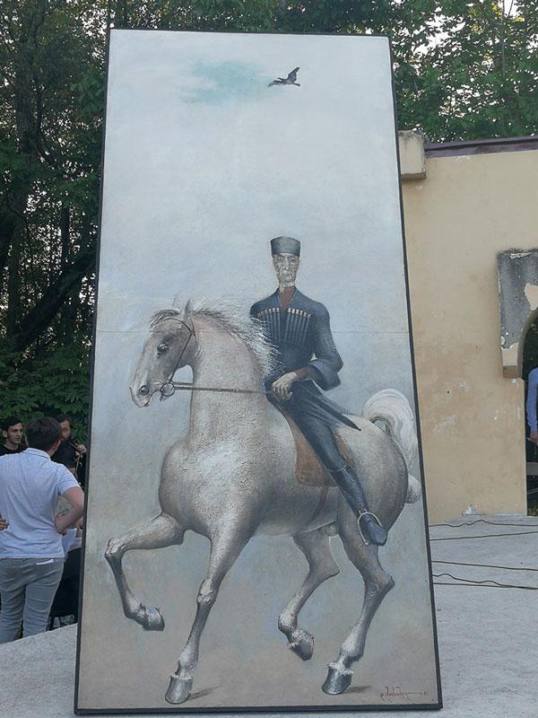 კომუნისტების მიერ ჩამოხსნილი კონსტანტინე გამსახურდიას ნახატი