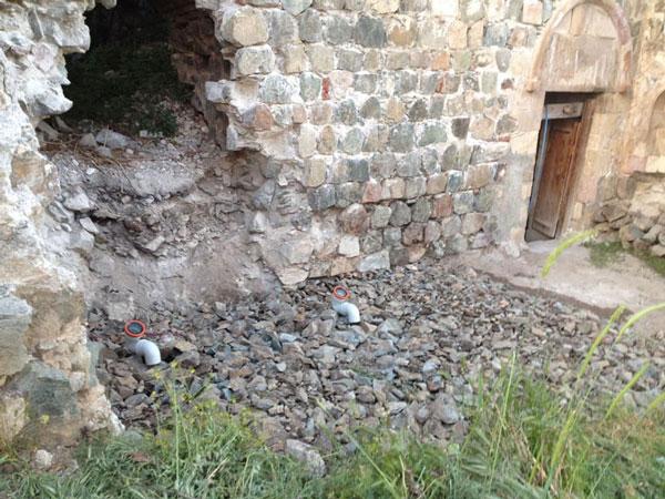ტაო კლარჯეთის ქართულ ტაძარში ტუალეტს აშენებენ