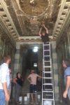 ისტორიული ძეგლის მოხატული ჭერი და კედლები განადგურებულია