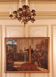 ხელოვნების სასახლის უნიკალური ექსპონატები პრეზიდენტის სასახლეში