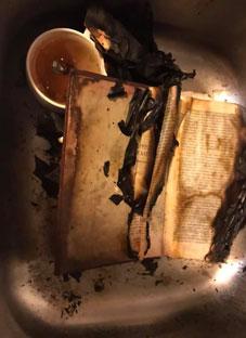 რუსმა ტურისტებმა საქართველოს ისტორიის წიგნი დაწვეს