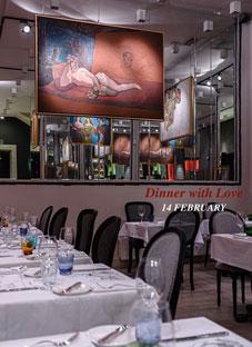 ლადო გუდიაშვილის ორიგინალი ნამუშევრები რესტორანში
