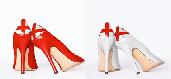 ფეხსაცმელები საქართველოს დროშით