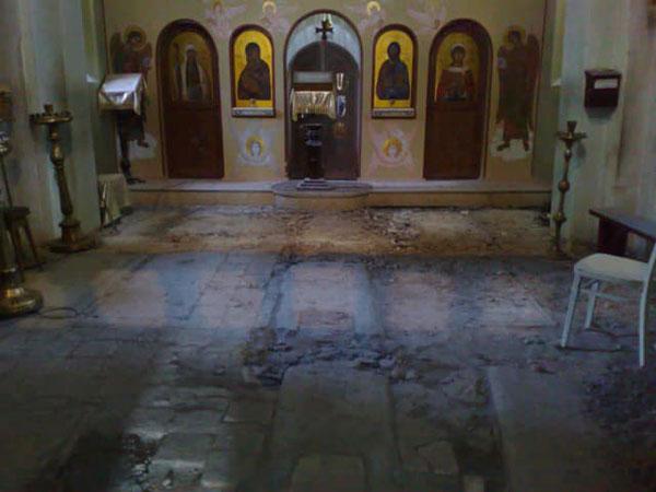 ვანდალიზმი ნავთლუღის წმინდა ბარბარეს ეკლესიაში